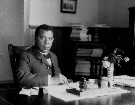 Booker T. Washington, author, educator and founder of the Tuskegee Institute