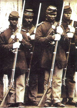 107th colored infantry part of the union army during the civil war