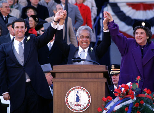 Douglas Wilder a democratic senator and governor for Virginia