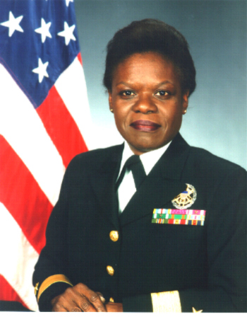 rear Admiral Lillian Fishburne the first female Admiral of the Navy