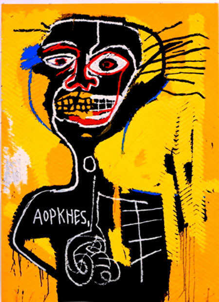 jean-michel basquiat picture done in his unique modern style
