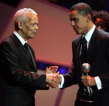 Julian Bond with President Barak Obama