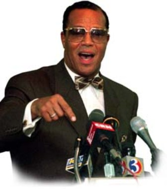 Louis Farrakhan speaking his beliefs on the Nation of Islam