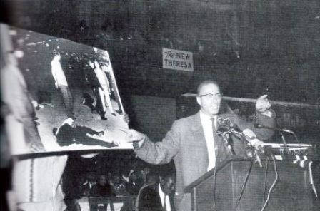 Malcolm X speaking out about the violence protestors faced in the civil rights era