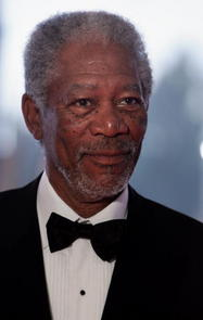 African American actor Morgan Freeman is driving Miss Daisy to the Shawshank Redemption