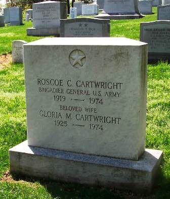 Gravesite for the Rock  Brigadier General Roscoe Cartwright and his wife Gloria killed in TWA plane crash in 1974
