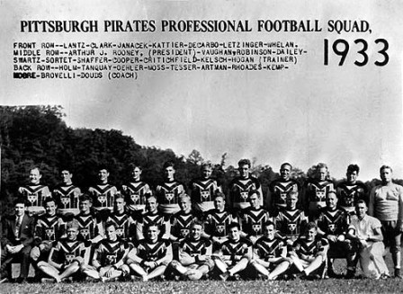 Ray Kemp on the NFL team Pittsburg Pirates in 1933