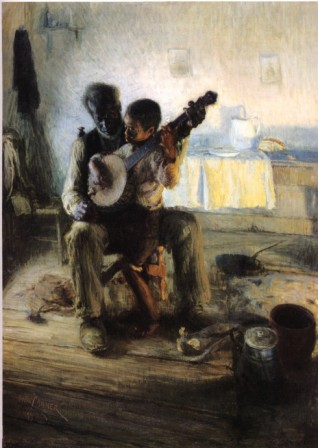 The Banjo Player by African American artist Henry Ossawa Tanner