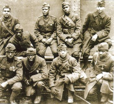 "all black 369th infantry ""Harlem Hell Fighters"" World War I african american heroes"
